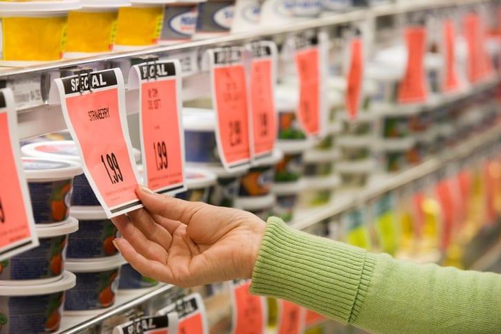 Checking price of item